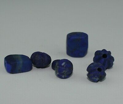 Good Quantity Of Ancient Carved Lapis  Beads -  326