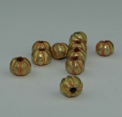 10 X Post Medieval Gold Beads - 01211
