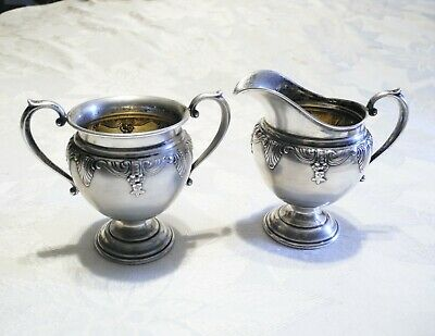Wallace Vtg Sterling Silver Stradivari Sugar Bowl & Creamer Set 4751-9