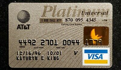 AT&T Universal Patinum Visa credit card exp 2001♡Free Shipping♡cc884