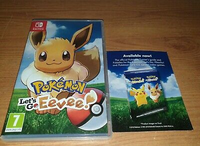 POKEMON:LETS GO EEVEE! EMPTY  Nintendo Switch Game Case ONLY (NO GAME)