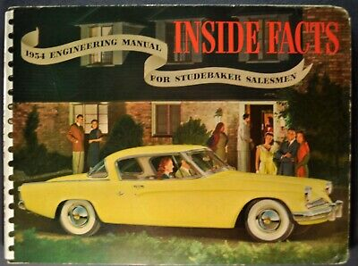 1954 Studebaker Inside Facts Brochure Commander Champion Starliner Nice Original