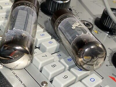 AMPEREX BUGLE BOY EL34 MATCHED PAIR - MULLARD Fx2 STRONG TEST