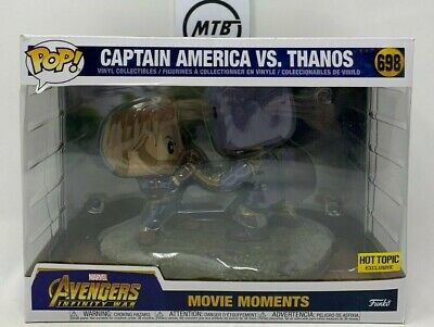 Funko Pop Marvel Avengers Infinity War Captain America Vs Thanos 698 Hot Topic