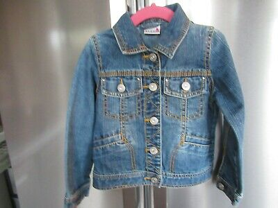 Next Denim Detailed Jackets Girls 3/4 Yrs Height 104Cm  Fab Condition *