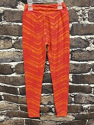 Lularoe Tween Leggings Pink, Orange Aztec Pattern