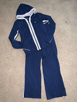 Euc Authentic Women's Wilson Running Training Tennis Warm Up Track Suit Xs & S