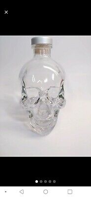 Crystal Head Vodka Bottle~Glass Skull~Original Cork~No Box~750ml Empty