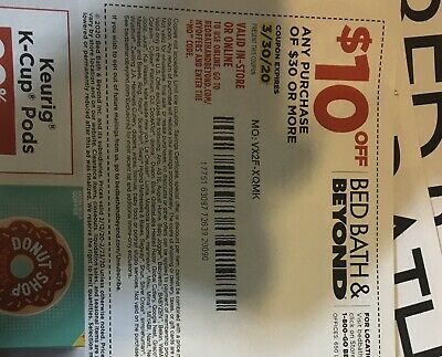 3 Bed Bath Beyond Coupons 10 off $30