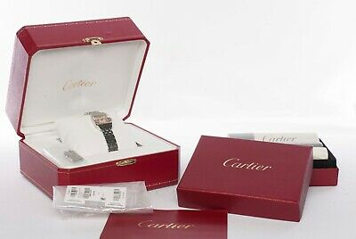 Cartier Santos Demoiselle W25075Z5 Pink Dial, BOX W/Cleaning Kit