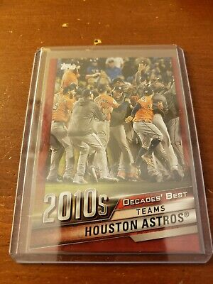 2020 Topps Series 1 Decades Best RED #DB-84 Houston Astros Parallel 2010s /10