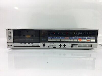 1985 Sharp RT-350 Vintage Cassette Deck (Tested & Working, Read Description)