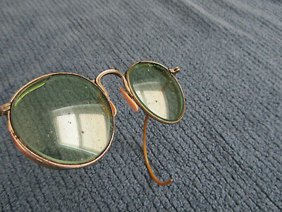 Vintage Welding Safety Glasses Goggles-Green Lenses-Steampunk-Cool