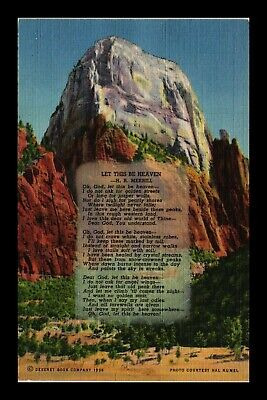 Dr Jim Stamps Us Great White Throne Zion National Park Utah Linen View Postcard