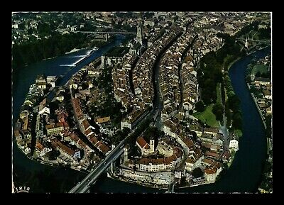 Dr Jim Stamps Bern Switzerland Aerial View Chrome Continental Size Postcard