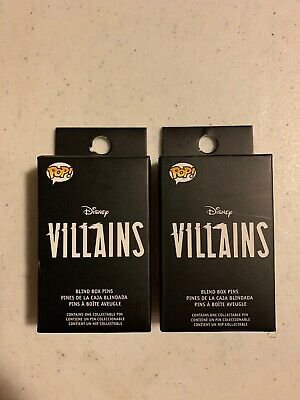 DISNEY VILLAINS FUNKO POP BLIND BOX Set of 2 UNOPENED MYSTERY PINS NEW