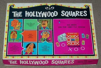 Vintage 1967 The Hollywood Squares Game, Based On Tv Show, Heatter-Quigley Co.