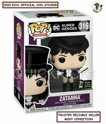 Zatanna Justice League Dc Funko Pop 2020 Eccc Official Sticker Exclusive! Mint!