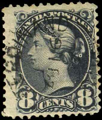 Canada #44 used F 1888 Queen Victoria 8c violet black Small Queen JUMBO SON CDS