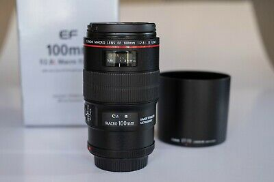 Canon EF 100mm f/2.8L IS USM Macro Lens w/ Hoya Filter & Kenko Extension Tubes