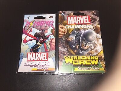 Marvel Champions Ms. Marvel Hero Pack And Wrecking Crew Scenario Pack
