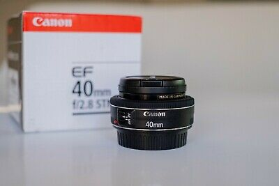 Canon EF 40 mm F/2.8 STM For Canon - Black - w/ box