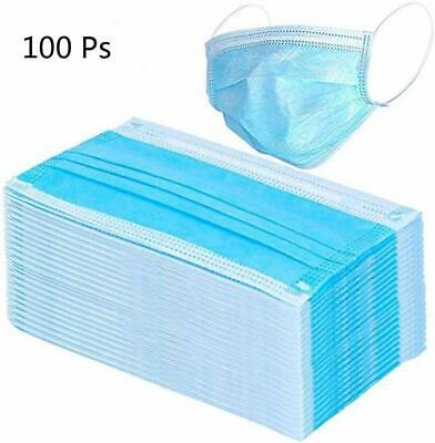 Disposable Face Mask Surgical Medical Dust Masks 3 Ply 20-50-100 Pcs Fast Ship