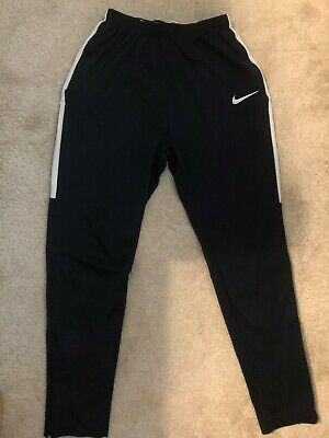 Boys Nike Dri-fit Black Joggers Size XL Age 13-15 Years Elasticated Waist 4 Zips