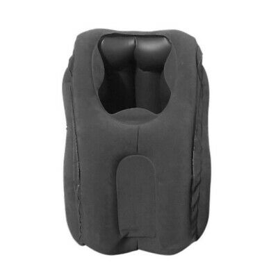 Portable Inflatable Flight Pillow Rest Air Cushion Travel Office Pillow DS83S