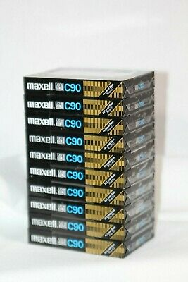 Maxell C 90 blank cassette audio (lot of 10)