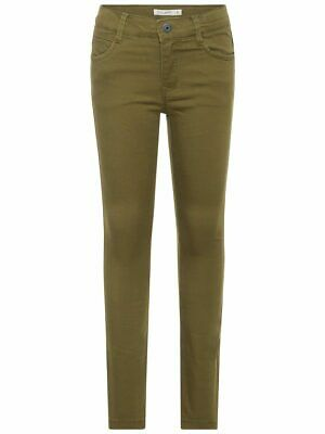 NAME IT 13156413 Olive NKMTHEO Twillwebhose für Jungs Stretch Gr. 158 (13Y)