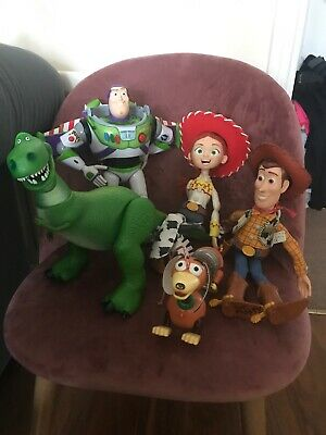 Disney Store Toy Story Figures Talking Pull String Woody & Jessie & Ligh Up Buzz