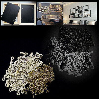 "200pcs Anti-rust Black/ Gold Metal 3/4"" Frame Turns Fasteners with 200pcs Screws"