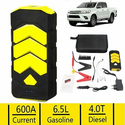 UK 600A USB Jump Starter Battery Car Power Bank Resuce Pack Charger Booster