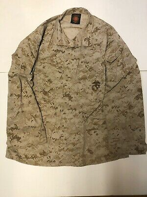 USMC MARINES Desert Marpat Digital US Military Jacket Uniform Medium R
