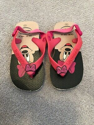 Baby Girls Size 22 Minnie Mouse Haviannas