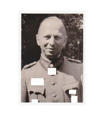 Signed Photo of Knight's Cross with Oakleaves General Buschenhagen KC VERY RARE