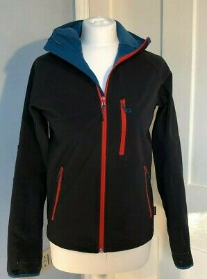 Girls Decathlon Black & Red Fleece-Lined Water Resistant Coat Age 14 Outerwear