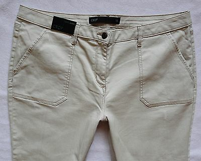 BNWT NEXT NEW Ladies light beige crop rolled hems relaxed skinny Capri jeans 18