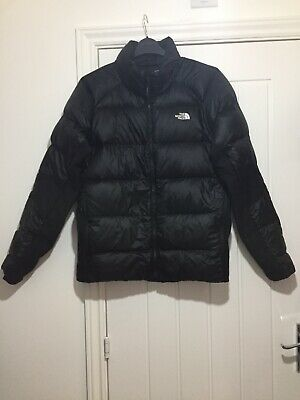 Mens The North Face Black Down Padded Zip Up Jacket Uk Size Xl