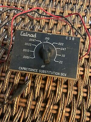 Vintage Calrad C S B Capacitance  substitution box Japan .0001 .22 Free Shipping