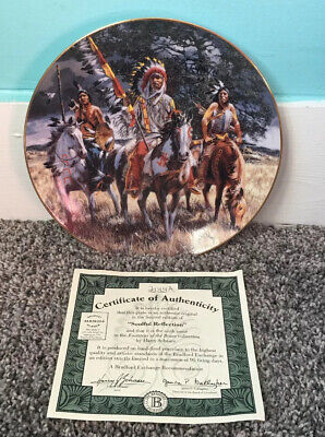 Soulful Reflection Footsteps Of Brave Harry Schaare Collector Plate Bradford Ex.
