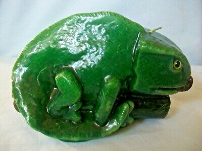 New Green Chameleon Lizard Candle