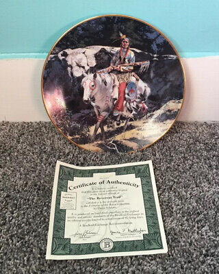 The Reverent Trail Footsteps Of Brave Harry Schaare Collector Plate Bradford Ex.