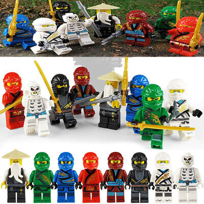 8pcs Lego Ninjago Figure Ninjago Mini Figure Lloyd Kai Zane Silah Pythor Party