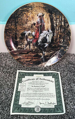At Journey's End Footsteps Of Brave Harry Schaare Collector Plate Bradford Ex.