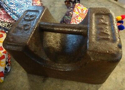 Lovely Vintage Antique IMP Ltd 56lb Cast Iron Metal Avery Weight