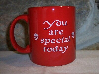 vintage you are special red waechtersbach germany coffee mug cup 3 7/8""