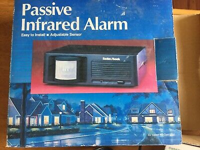 Passive Infrared Alarm New In Box Safe House Adjustable Sensor Radio Shack
