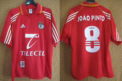 Maillot Benfica Lisbonne Joao Pinto #8 Adidas vintage SLB jersey - S